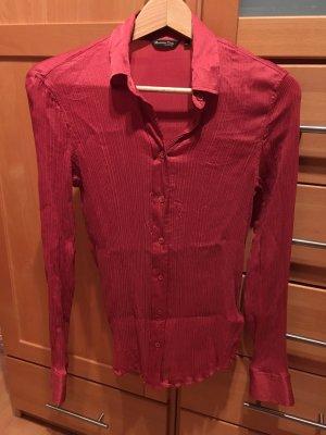 Massimo Dutti Seidenbluse D36 / S / 34 / XS Rosarot Pink 100 % Mulberry Seide