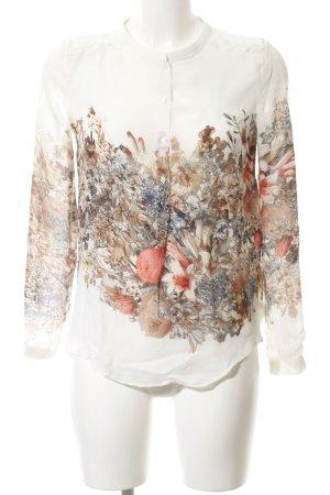 Massimo Dutti Zijden blouse bloemen patroon casual uitstraling