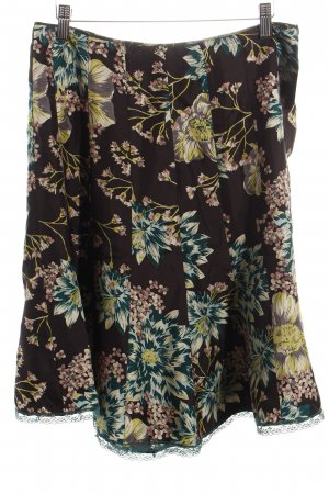 Massimo Dutti Seidenrock florales Muster Casual-Look