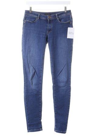 Massimo Dutti Skinny Jeans blau-dunkelblau Casual-Look