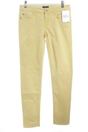 Massimo Dutti Skinny Jeans dunkelgelb Jeans-Optik