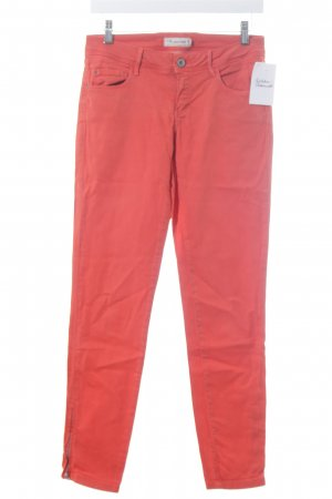 Massimo Dutti Skinny Jeans dunkelorange schlichter Stil
