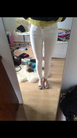 Massimo Dutti Skinny Jeans Gr. 36 weiß