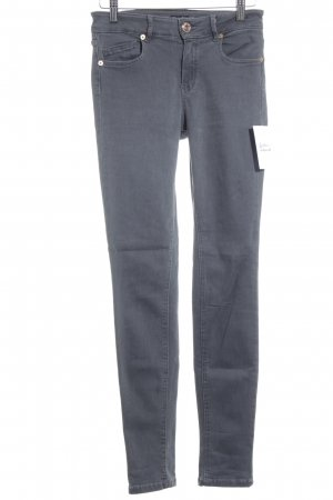 Massimo Dutti Skinny Jeans grau Casual-Look