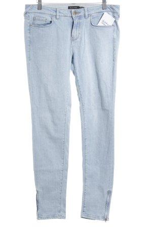 Massimo Dutti Skinny Jeans himmelblau schlichter Stil