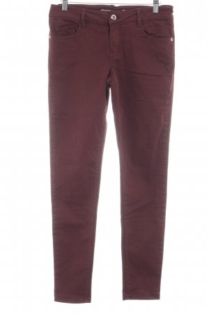 Massimo Dutti Skinny Jeans karminrot Casual-Look