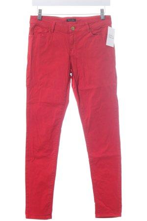 Massimo Dutti Skinny Jeans rot schlichter Stil