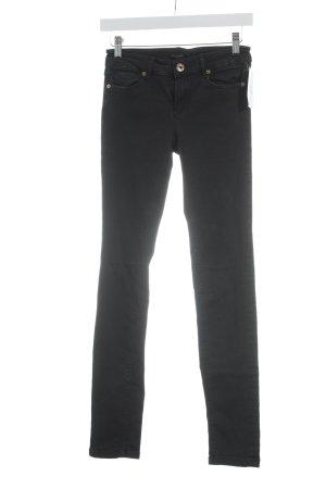 Massimo Dutti Skinny Jeans schwarz-dunkelblau Casual-Look