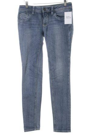 Massimo Dutti Skinny Jeans stahlblau Casual-Look