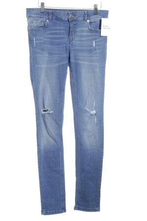 Massimo Dutti Skinny Jeans stahlblau Jeans-Optik