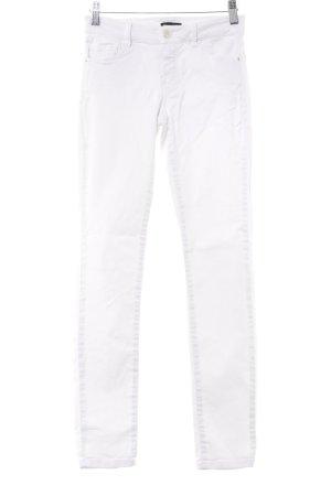 Massimo Dutti Skinny Jeans weiß Boho-Look