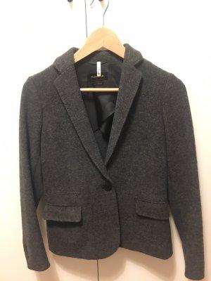 Massimo Dutti Blazer en laine gris foncé-gris anthracite