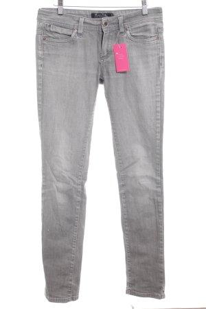 Massimo Dutti Slim Jeans grau Casual-Look