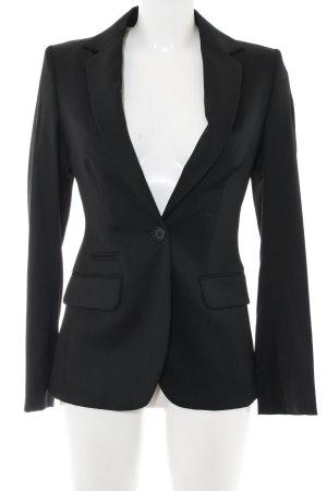 Massimo Dutti Tuxedo Blazer black-natural white striped pattern business style