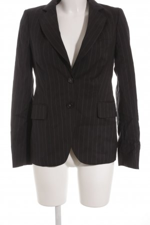 Massimo Dutti Smoking-Blazer dunkelblau Streifenmuster Business-Look