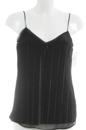 Massimo Dutti Top con bretelline nero stile casual