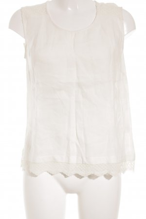 Massimo Dutti Lace Top natural white romantic style