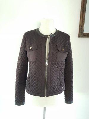 Massimo Dutti Quilted Jacket dark brown