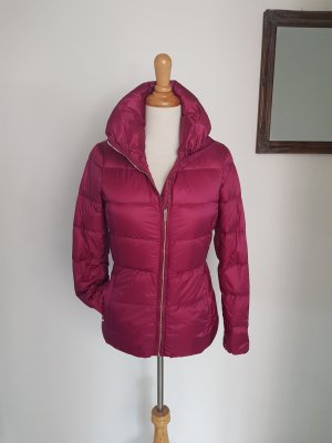 Massimo Dutti Quilted Jacket raspberry-red