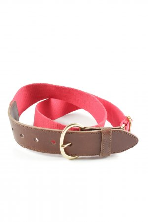 Massimo Dutti Stoffen riem bruin-rood casual uitstraling