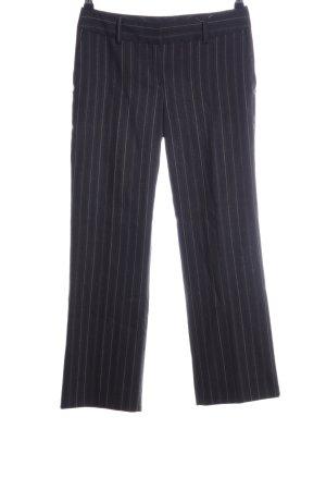 Massimo Dutti Stoffhose schwarz-wollweiß Streifenmuster Business-Look
