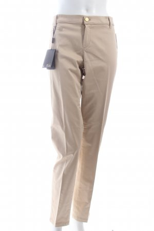 Massimo Dutti Stoffhose beige Business-Look