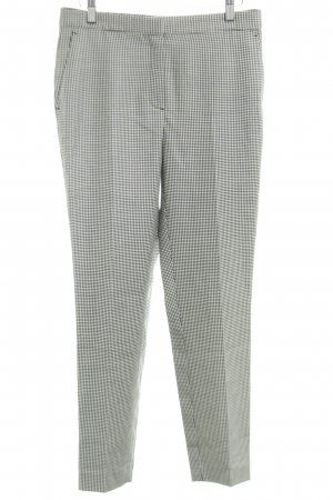 Massimo Dutti Jersey Pants white-black allover print business style