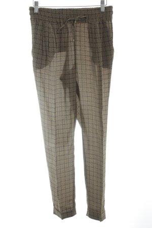 Massimo Dutti Stoffhose sandbraun-schwarzbraun abstraktes Muster Casual-Look