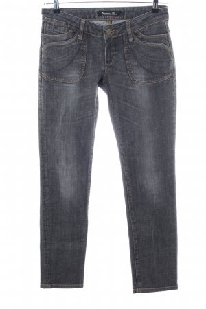 Massimo Dutti Straight-Leg Jeans schwarz Casual-Look