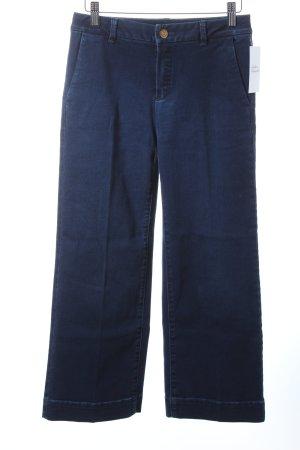 Massimo Dutti Straight-Leg Jeans dunkelblau Casual-Look