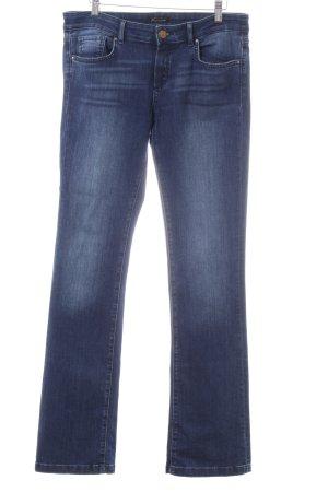 Massimo Dutti Straight-Leg Jeans blau Jeans-Optik