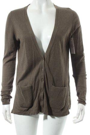 Massimo Dutti Strick Cardigan khaki klassischer Stil