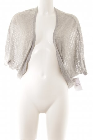 Massimo Dutti Knitted Bolero light grey loosely knitted pattern casual look