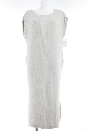 Massimo Dutti Knitted Dress oatmeal weave pattern fluffy