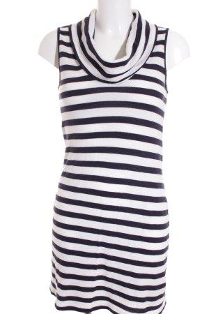 Massimo Dutti Strickkleid weiß-dunkelblau Streifenmuster Casual-Look