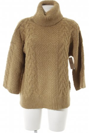 Massimo Dutti Strickpullover beige Casual-Look