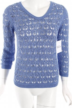 Massimo Dutti Strickpullover hellblau Street-Fashion-Look
