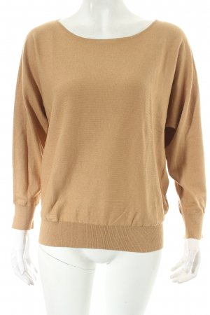 Massimo Dutti Strickpullover hellbraun Casual-Look