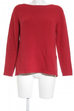 Massimo Dutti Strickpullover rot Casual-Look