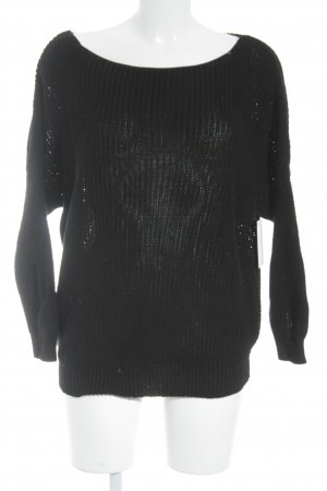 Massimo Dutti Strickpullover schwarz Casual-Look