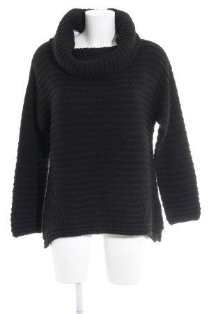 Massimo Dutti Maglione lavorato a maglia nero motivo a righe stile casual