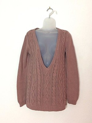 Massimo Dutti Strickpullover Zopfmuster Baumwolle Gr. S