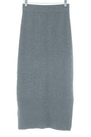 Massimo Dutti Jupe tricotée gris foncé style simple