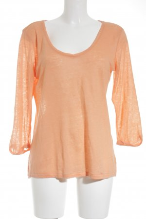 Massimo Dutti Stricktop apricot Casual-Look