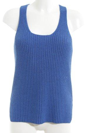 Massimo Dutti Top lavorato a maglia blu stile casual
