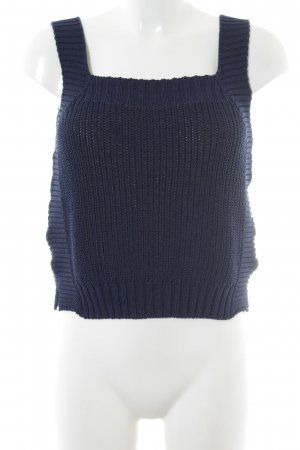 Massimo Dutti Knitted Top dark blue casual look