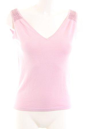 Massimo Dutti Top lavorato a maglia rosa stile casual