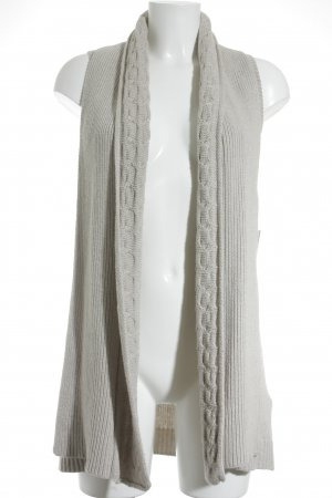 Massimo Dutti Strickweste creme Zopfmuster Country-Look