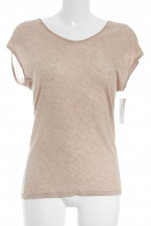 Massimo Dutti T-Shirt altrosa meliert Casual-Look