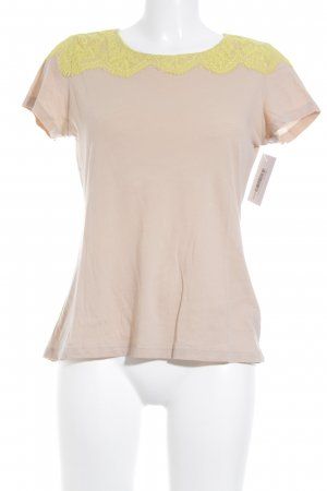 Massimo Dutti T-Shirt creme-gelb Casual-Look